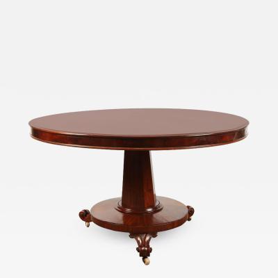 19th Century English Regency Mahogany Pedestal Table