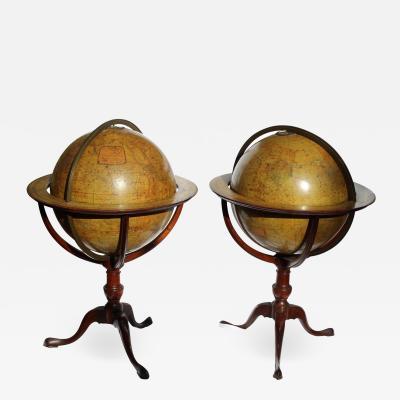 19th Century English Terrestrial Globe by Edward Stanford a Pair