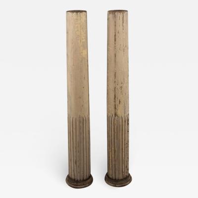 19th Century Fluted Wood Columns