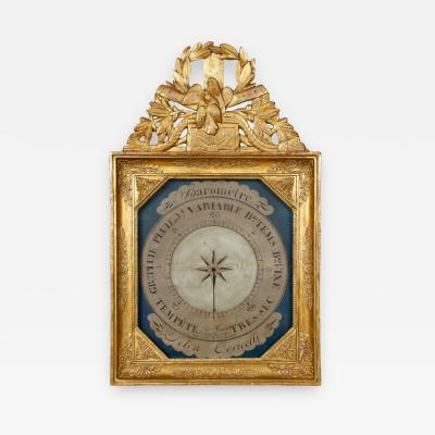 19th Century French Barometer in Giltwood Frame