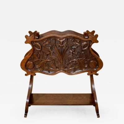 19th Century French Carved Magazine Stand