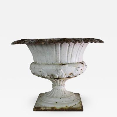 19th Century French Cast Iron Urn