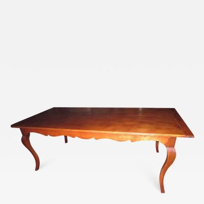 19th Century French Country Fruitwood Dining Table