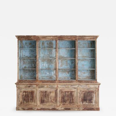 19th Century French Directoire Style Biblioth que Bookcase In Original Paint