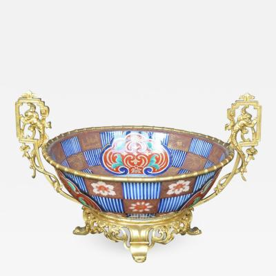 19th Century French Dore Bronze and Imari Porcelain