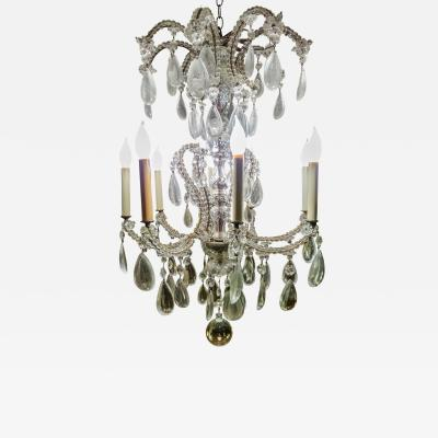 19th Century French Eight Light Crystal Chandelier