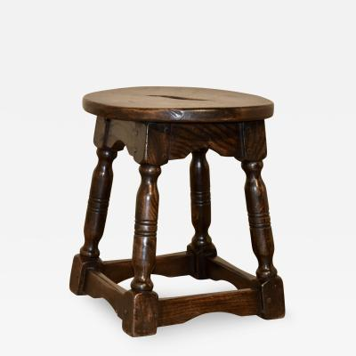 19th Century French Elm Stool