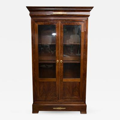 19th Century French Empire Mahogany Bookcase