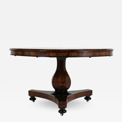 19th Century French Empire style Rosewood Center Tilt Top Table