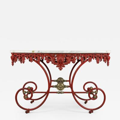 19th Century French Iron Pastry Table