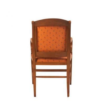 19th Century French Louis Philippe Pear Wood Armchair