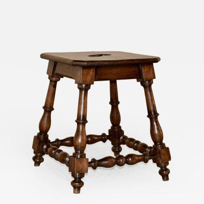 19th Century French Oak Stool
