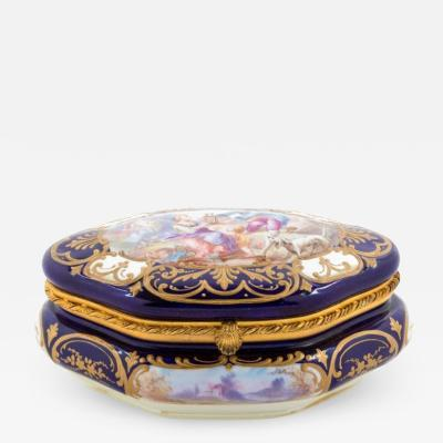 19th Century French Sevres Porcelain Box