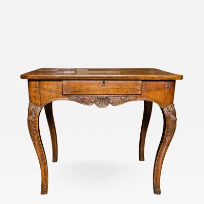 19th Century French Walnut Wood Regency Table