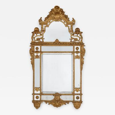 19th Century French carved gilt wood mirror in the R gence style