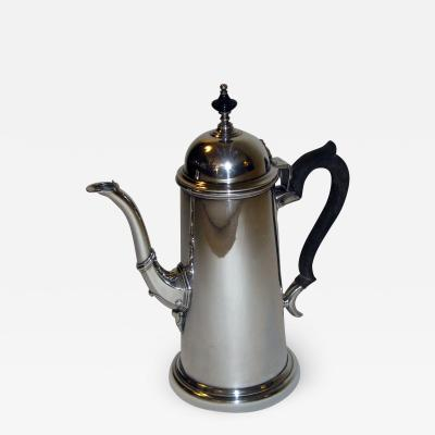 19th Century Georgian Style Sterling Silver Coffee Server