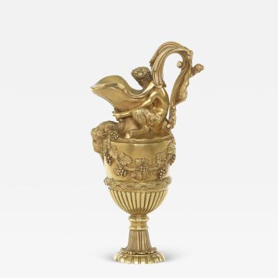 19th Century Gilt Bronze Ormolu Amphora Ewer