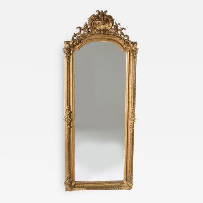 19th Century Giltwood Framed Hanging Wall Mirror