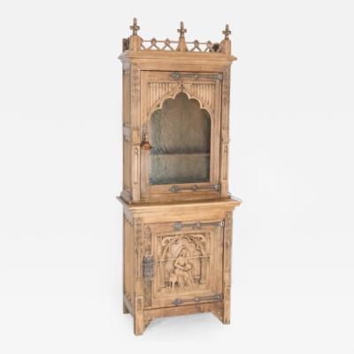 19th Century Gothic Cabinet