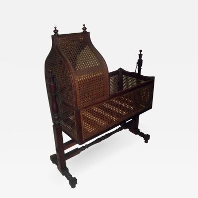 19th Century Gothic Revival Walnut Swinging Cradle