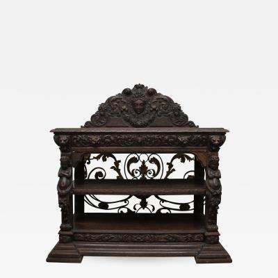 19th Century Heavily Carved European Dumb Waiter