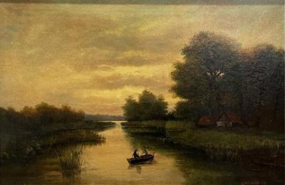 19th Century Hudson River School painting