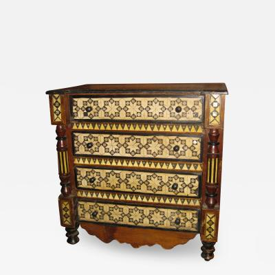 19th Century Inlaid Moroccan Small Chest