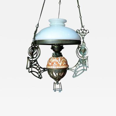 19th Century Italian Art Nouveau Gas Lantern