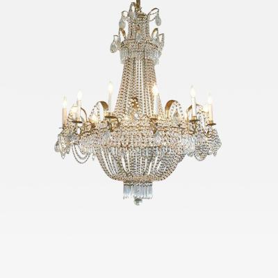 19th Century Italian Empire Crystal Chandelier