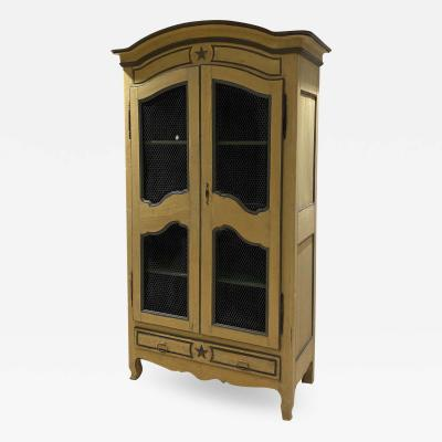 19th Century Italian Painted Armoire Bookcase