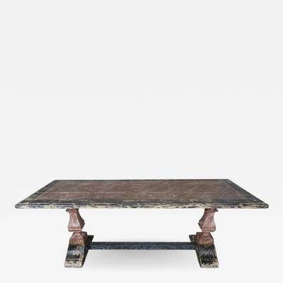 19th Century Italian Painted Trestle Table