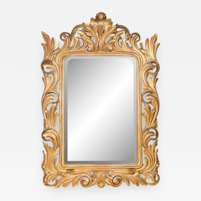 19th Century Italian Rococo Gilt Carved Mirror