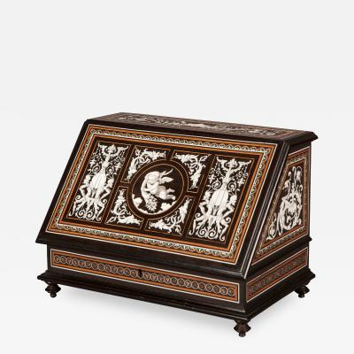 19th Century Italian Stationary Box in the Renaissance Revival Stye