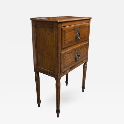 19th Century Italian Walnut Louis XVI Style Side Cabinet