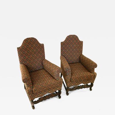 19th Century Jacobean Revival Style Chair Pair