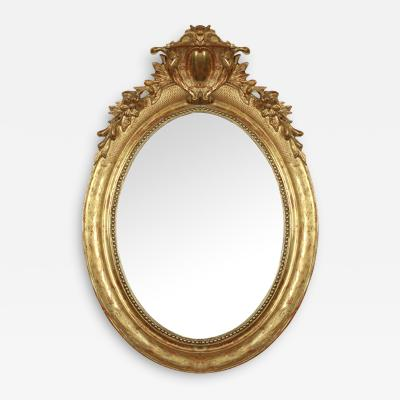 19th Century Louis XVI Oval Mirror