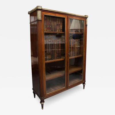 19th Century Louis XVI Style Mahogany Bookcase