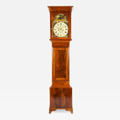 19th Century Mahogany Wood Long Case Clock