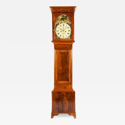 19th Century Mahogany Wood Long Case Clock