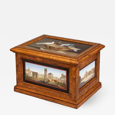 19th Century Micromosaic Grand Tour Decorative Box of Architecture Scenes