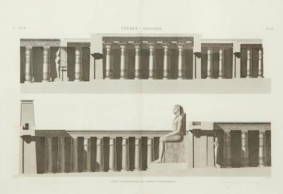 19th Century Napoleon Egypt Engraving Thebes