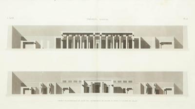19th Century Napoleon Egypt Engraving Thebes Karnak