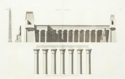 19th Century Napoleon Egypt Engraving Thebes Luxor