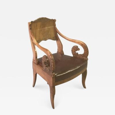 19th Century Neoclassical Russian Arm Chair