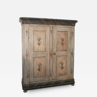 19th Century Northern Italian Paint Decorated Armoire