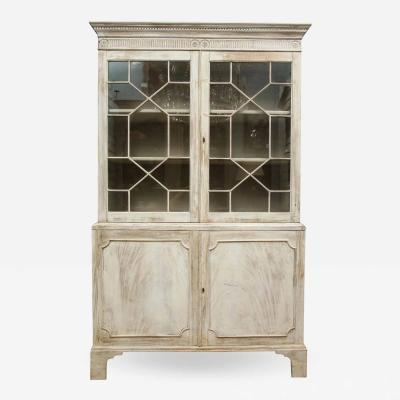 19th Century Painted English Cabinet