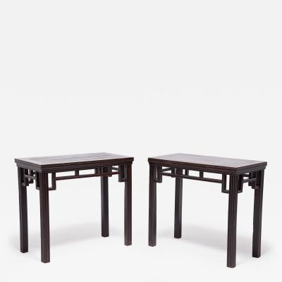 19th Century Pair of Chinese Half Tables