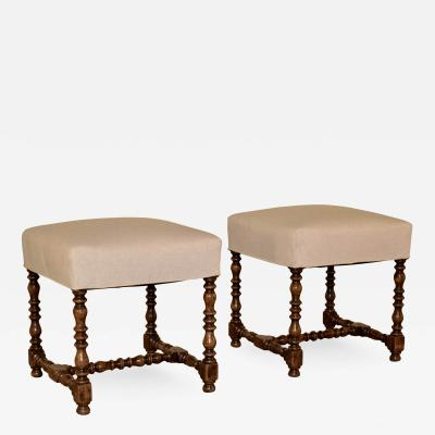19th Century Pair of French Stools