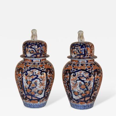 19th Century Pair of Imari Jars
