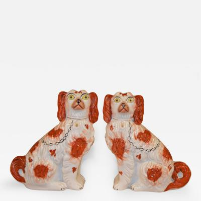 19th Century Pair of Staffordshire Spaniels